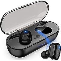Audifonos Inalambricos Bluetooth, Audífonos Bluetooth 5.0, Auriculares Deportivos Estéreo a Prueba de Sudor en la Oreja con Estuche de Carga Portátil, para iPhone Samsung iPad y Teléfono Android