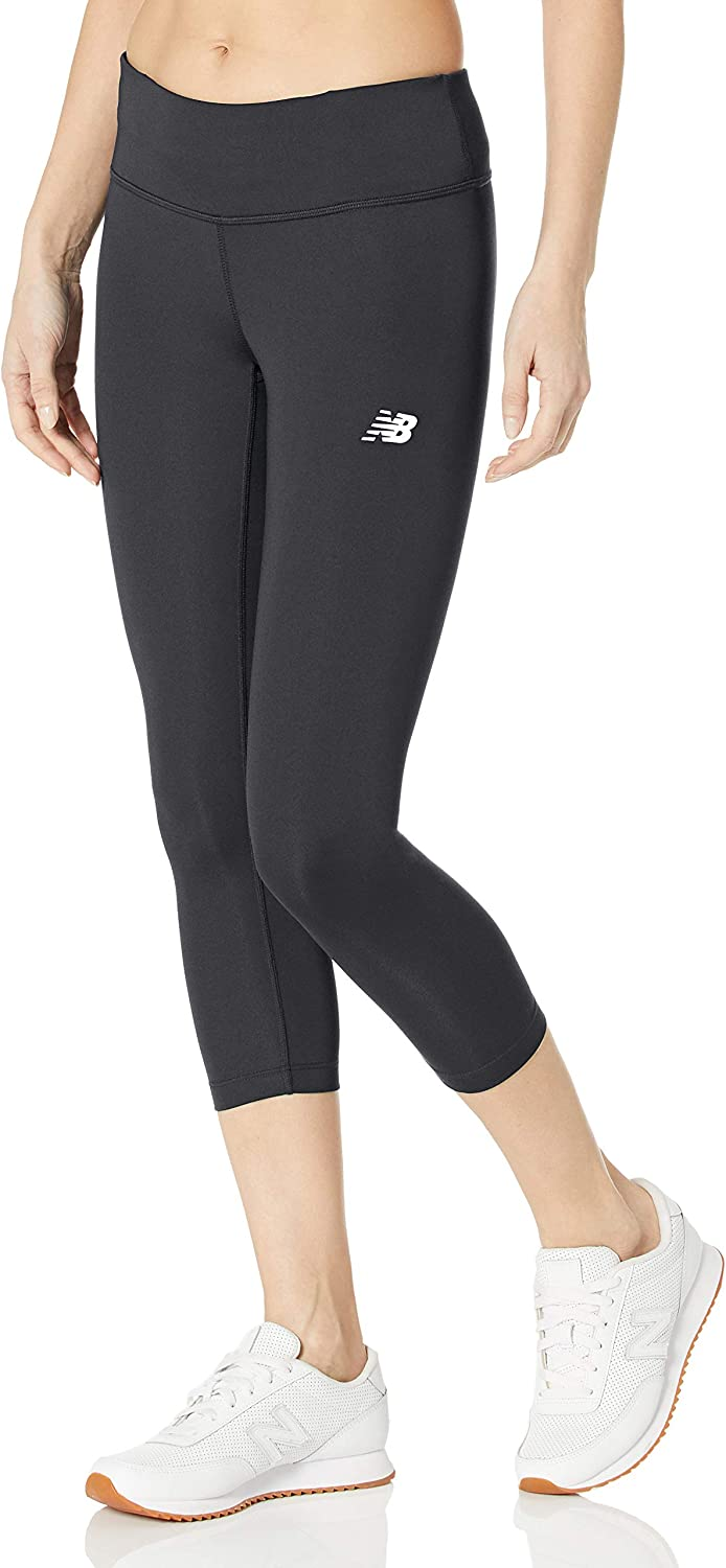 New Balance Women/'s Pants Running Yoga Gym Accelerate Capri 3//4 Leggings Size S