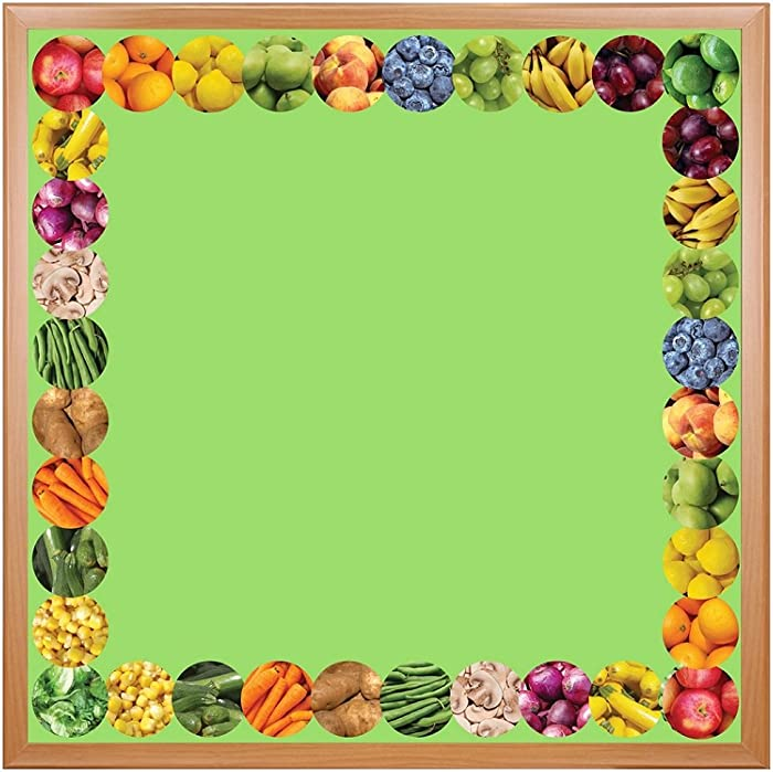 Hygloss Products Fruits and Veggies Die-Cut Bulletin Board Border – Classroom Decoration – 3 x 36 Inch, 12 Pack
