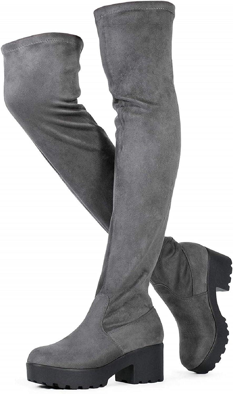 Womens Thigh High Platform Boots Sexy