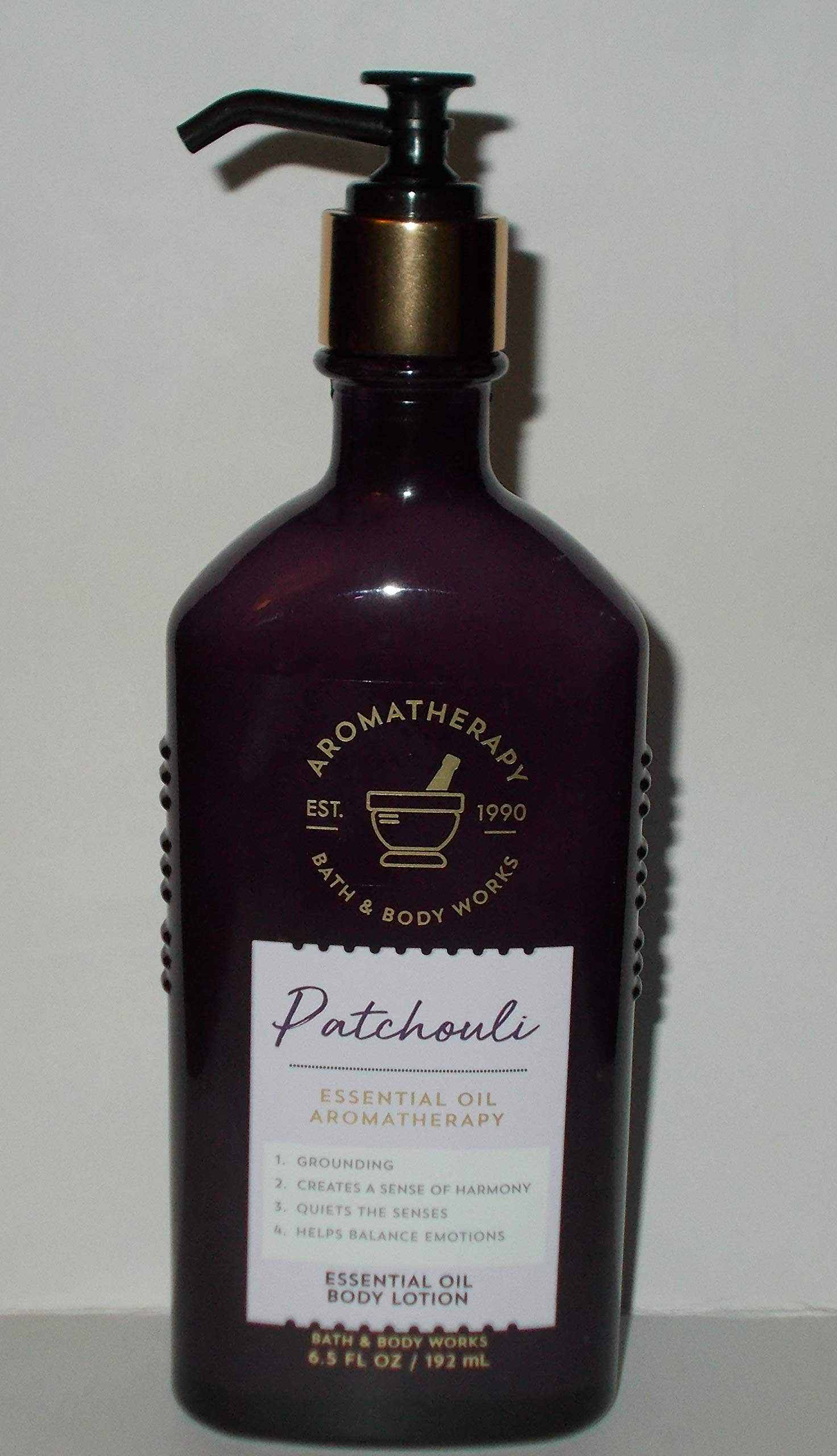 Bath and Body Works Aromatherapy PATCHOULI Essential Oil Body Lotion 6.5 Fluid Ounce
