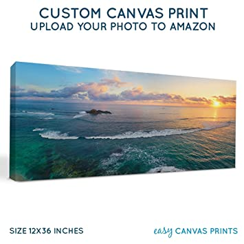 amazon com your panoramic photo on custom personalized canvas