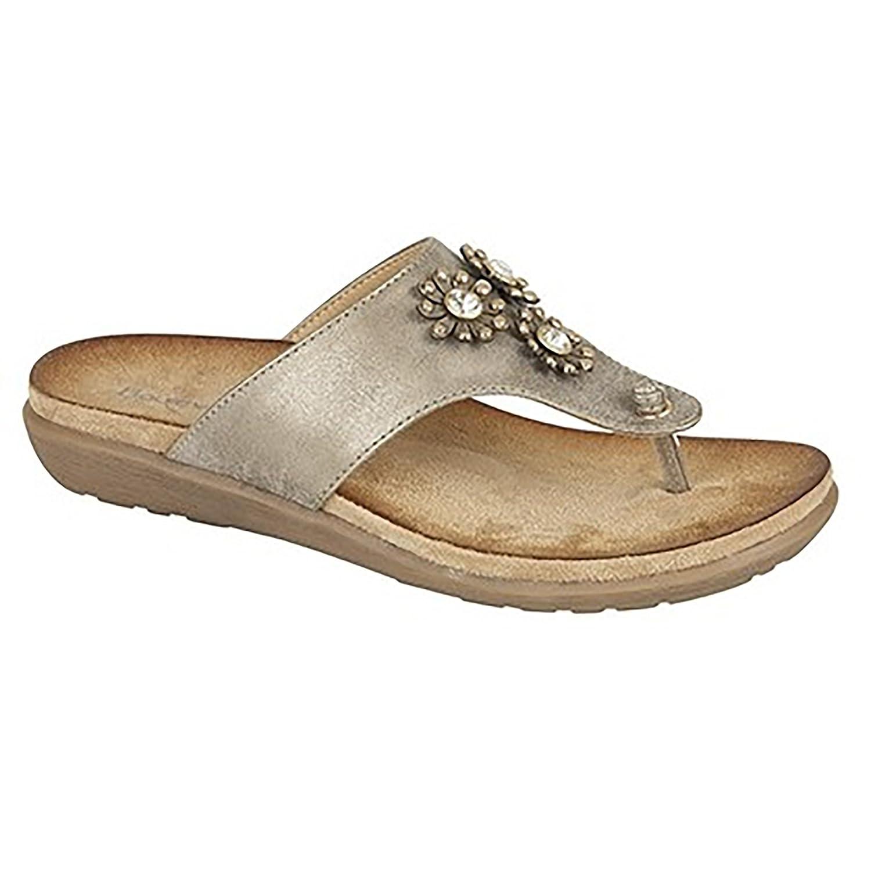3b59b1d8f9d7 Boulevard Womens Ladies Jewelled Toe Post Mule Sandals (5 UK) (Black)   Amazon.co.uk  Shoes   Bags