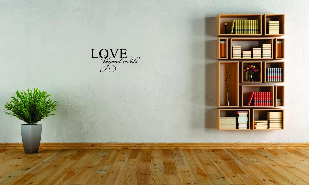 Black Size 20 Inches x 40 Inches Love Beyond Words Living Room Quote Color Peel /& Stick Wall Sticker Design with Vinyl Moti 2549 3 Decal