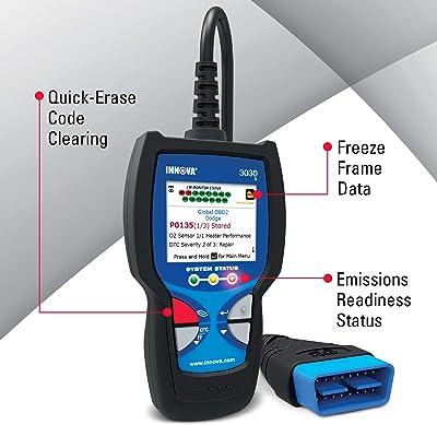 function INNOVA 3030h Car Diagnostic Scanner - OBD2 Code Reader/Scan Tool with Freeze Frame