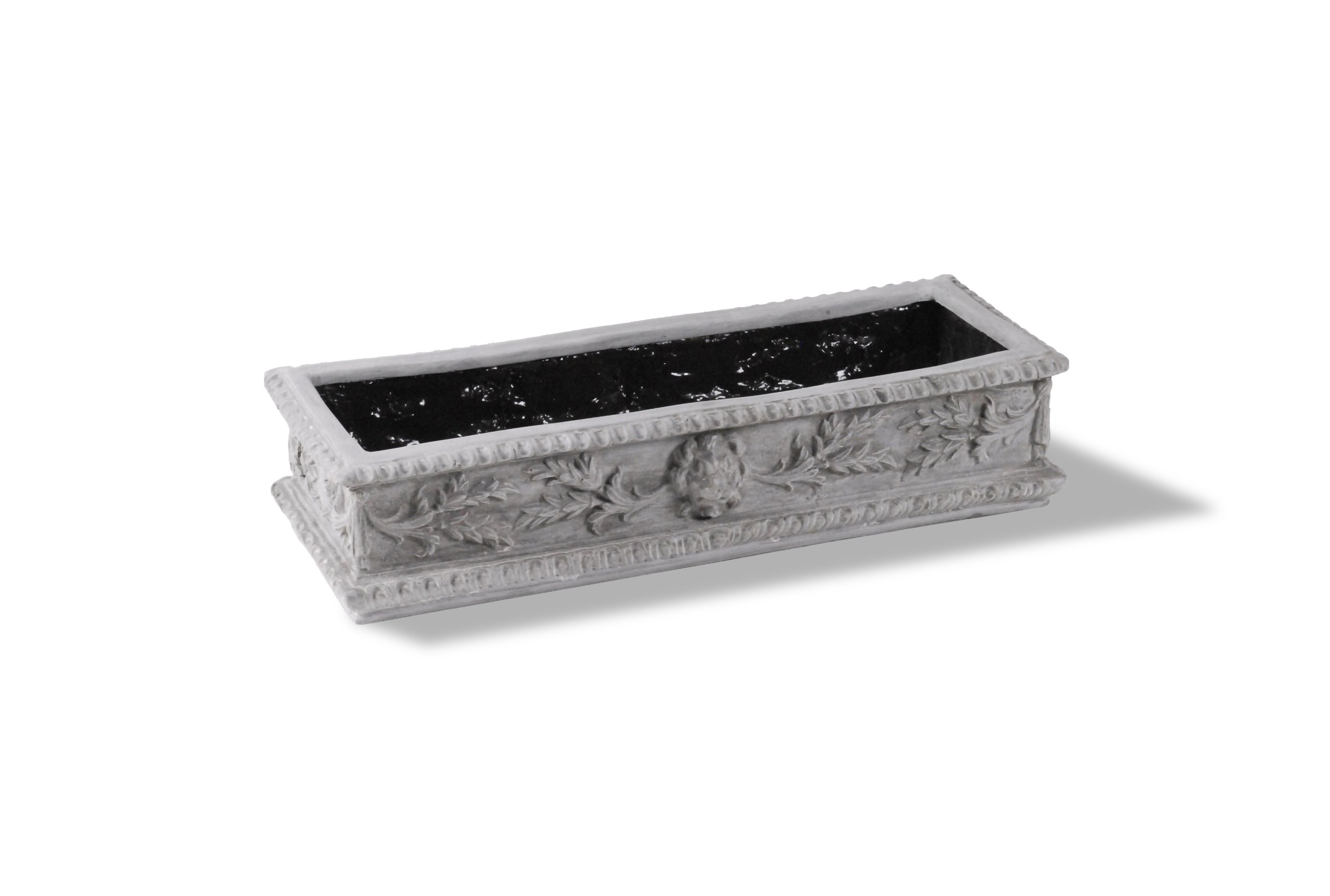 Amedeo Design ResinStone 2509-13G Lion Window Box, 38 by 14 by 8.5-Inch, Lead Gray by Amedeo Design