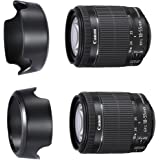 CamDesign EW-78D Dedicated Reversible Lens Hood for Canon EOS EF-S 18-200mm f/3.5-5.6 IS, EF 28-200mm f3.5-5.6 (replaces Canon EW-78D) + CamDesign Wristband Lens Focus Ring