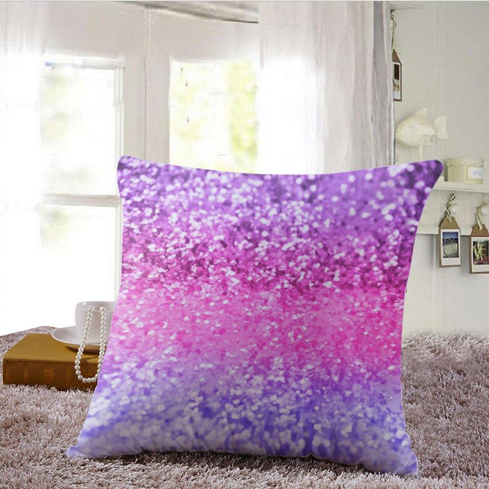 Gaddrt Copri-cuscino multicolore con paillette e glitter per cuscino da divano, decorazione della casa, 43 x 43cm. A