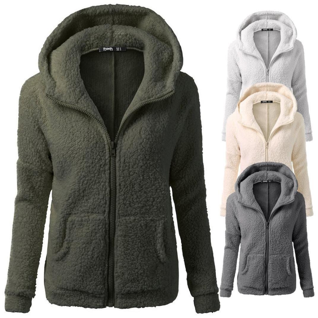 Women's Clothing Women Warm Autumn Winter Hoodies Thicken Fleece Coat Zip Up Hooded Slim Parka Overcoat Hoodies Woman Korean Clothes