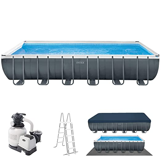 Intex 24Ft X 12Ft X 52In Ultra XTR Rectangular Pool Set ...