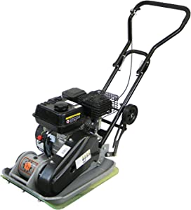 Dirty Hand Tools | 104001 | Vibratory Plate Compactor | 196CC 2,922 Lbs. Force | 21.26 x 16.54 Inch Plate Size | Removable Paving Pad Included