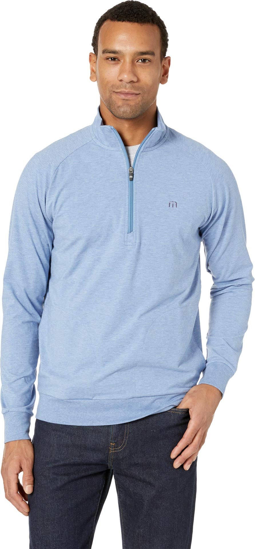 TravisMathew Men's Zachary Heather Light Blue Small by TravisMathew