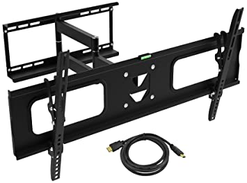 tv wall mount ematic 19 inch to 80 inch full motion tilt swivel