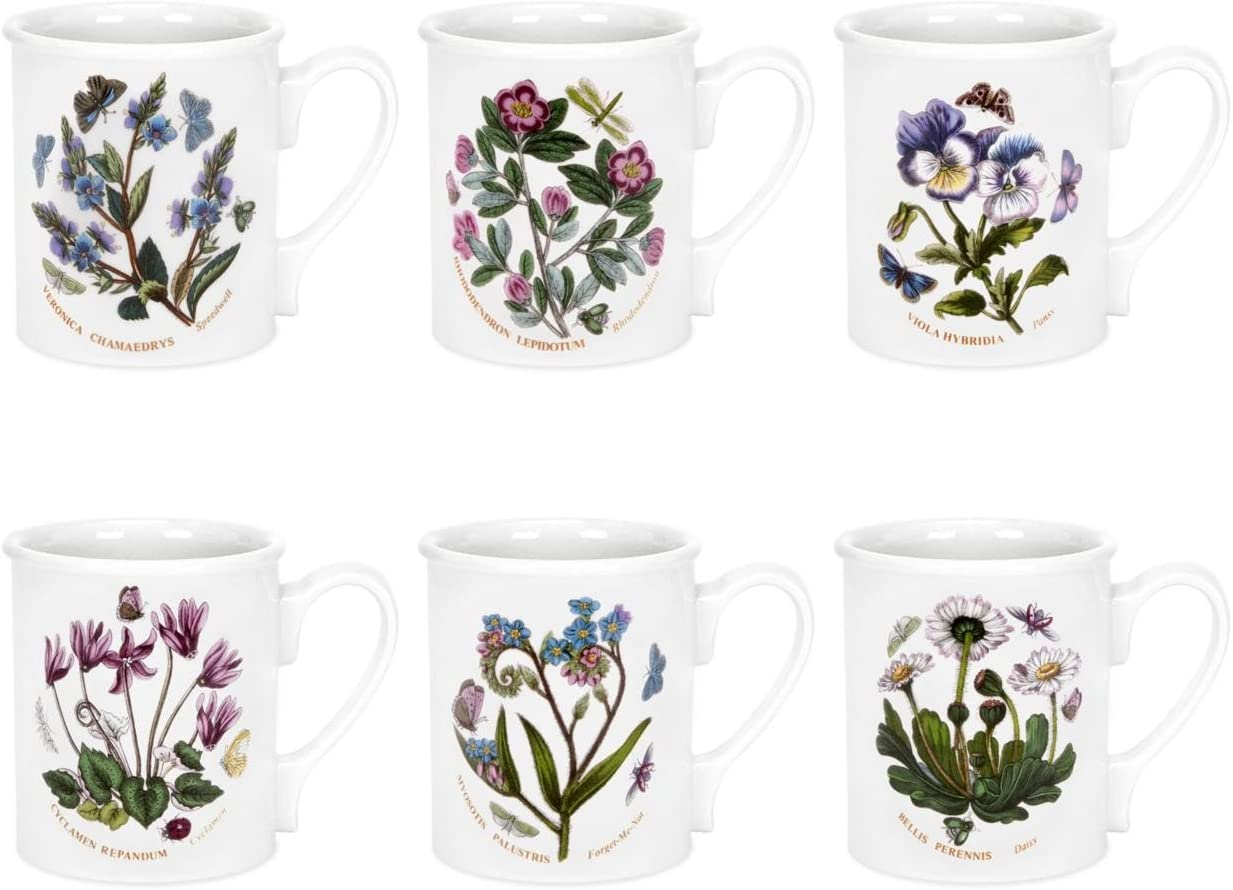 Portmeirion Botanic Garden - Breakfast Mug - Set Of 6