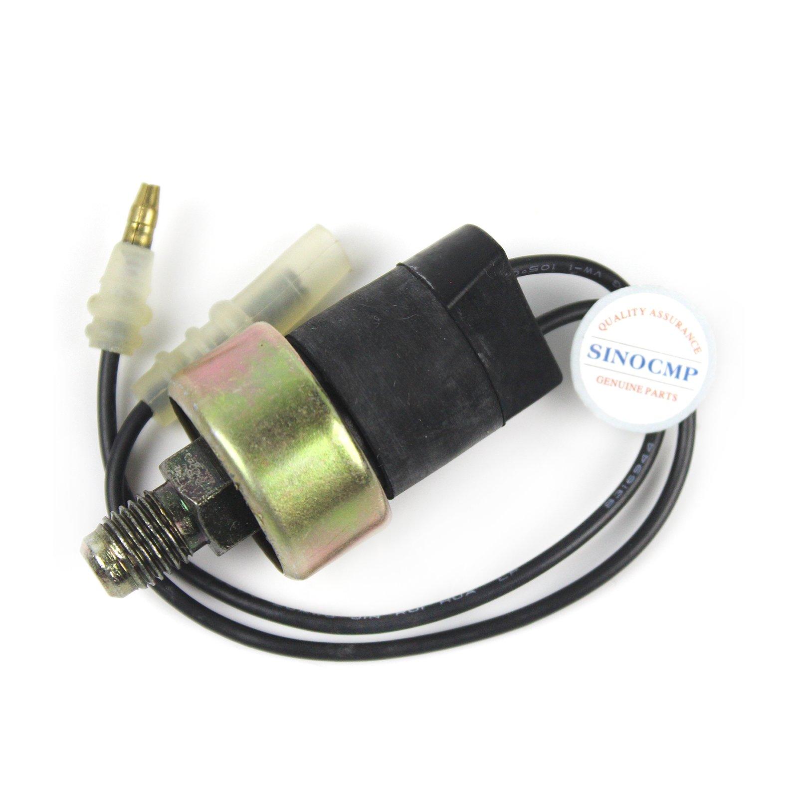 4259333 Pressure Sensor - SINOCMP Excavator Oil Pressure Sensor 4259333 for Hitachi Excavator Parts EX200-2 EX200-3 EX300-3 Parts, 3 Month Warranty by SINOCMP