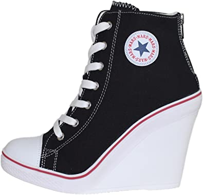 high top high heel sneakers