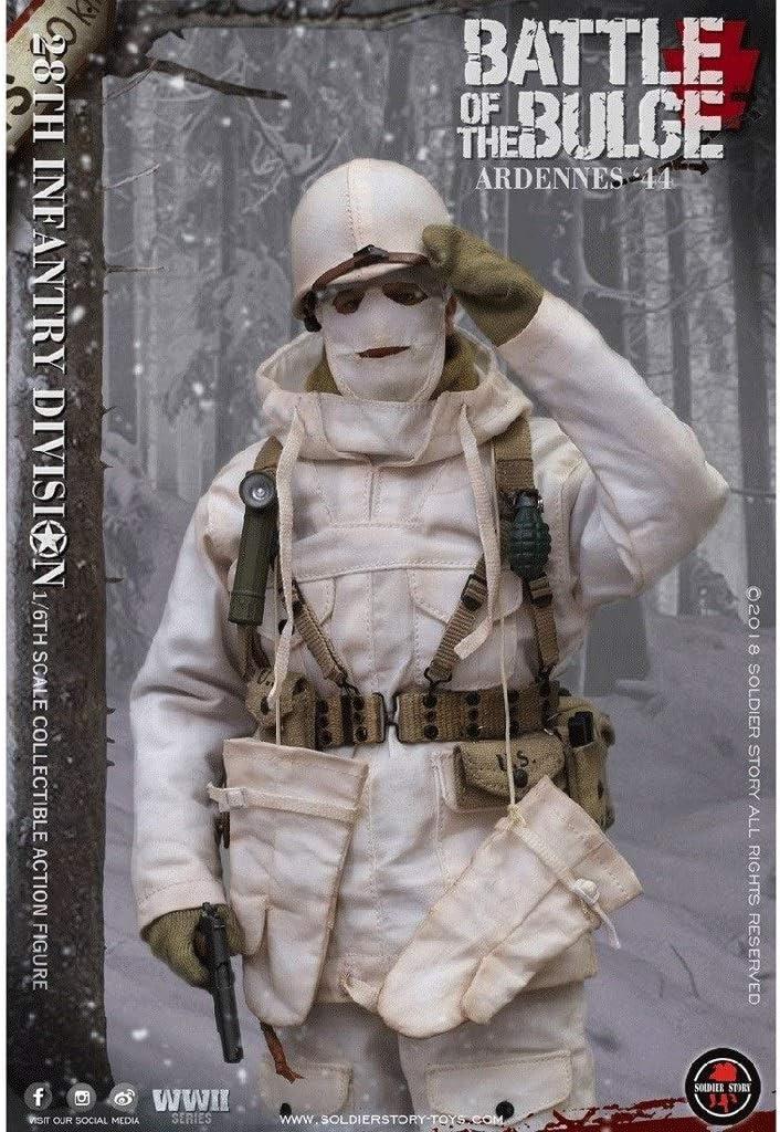 MMZ Ejército Militar Figura 1/6 Escala de Acción, 12 división de infantería de Estados Unidos 28 Pulgadas Archer Flexible Masculino Soldado Modelo Colección: Amazon.es: Juguetes y juegos