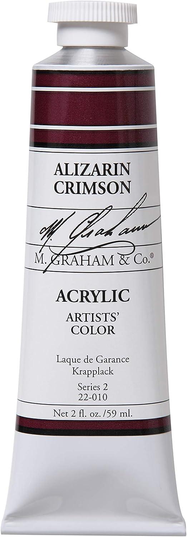 M. Graham 2-Ounce Tube Acrylic Paint, Alizarin Crimson
