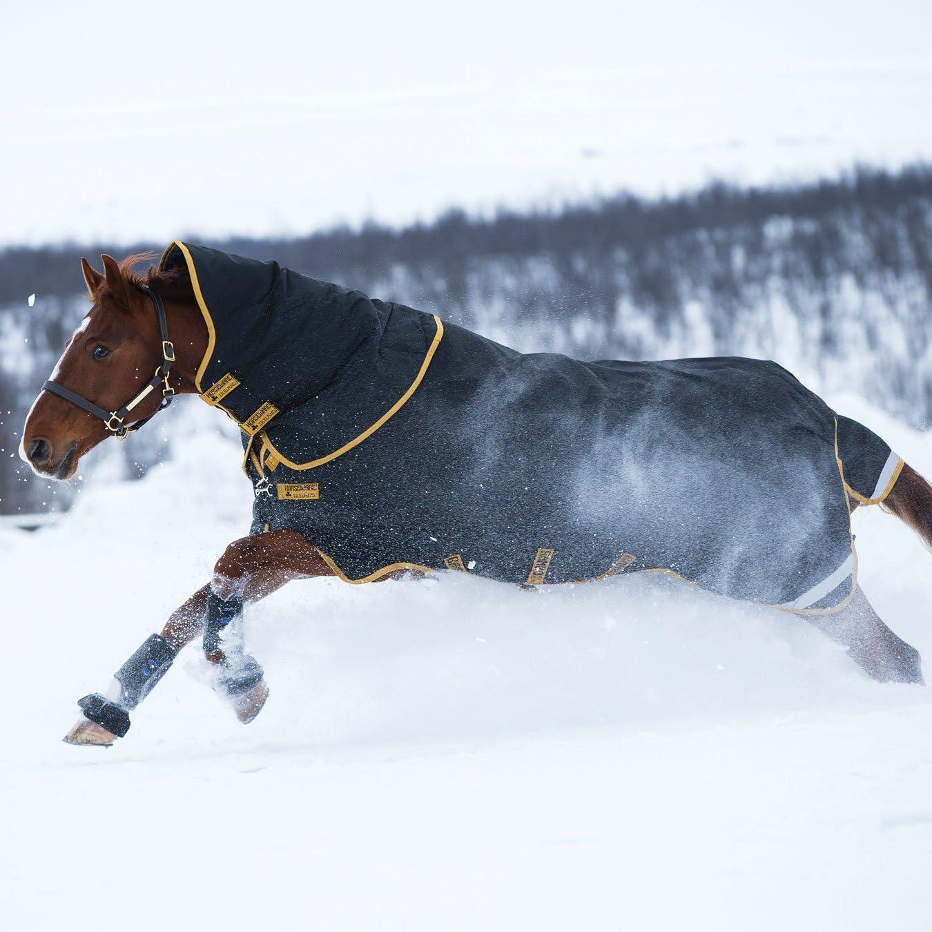 Horseware Rambo Supreme Couverture de p/âturage Noir//dor/é 0g