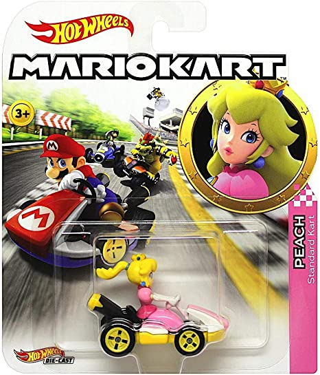 Amazon Com Hot Wheels Princess Peach Super Mario Kart Character