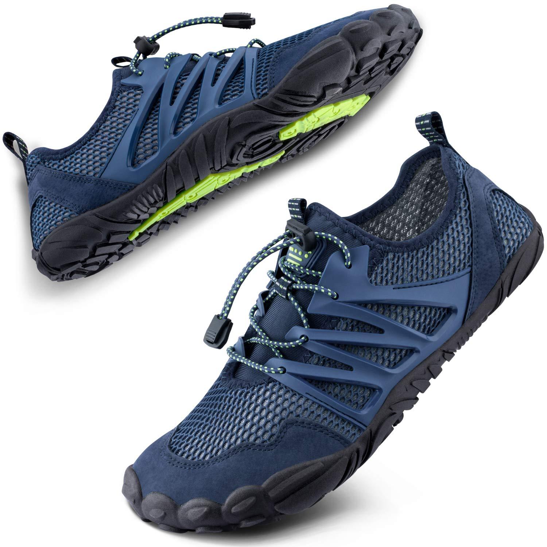 SIMARI Womens Mens Sports Water Shoes Quick Dry Barefoot for Swim Diving Surf Aqua Pool Beach Walking Yoga 303 Blue 10M/9M
