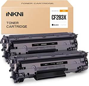 INKNI Compatible Toner Cartridge Replacement for HP 83X 83A CF283X to use in Laserjet Pro MFP M125nw M201dw M225dn M225dw M201n M125a M127fn M127fw (Black, 2-Pack)