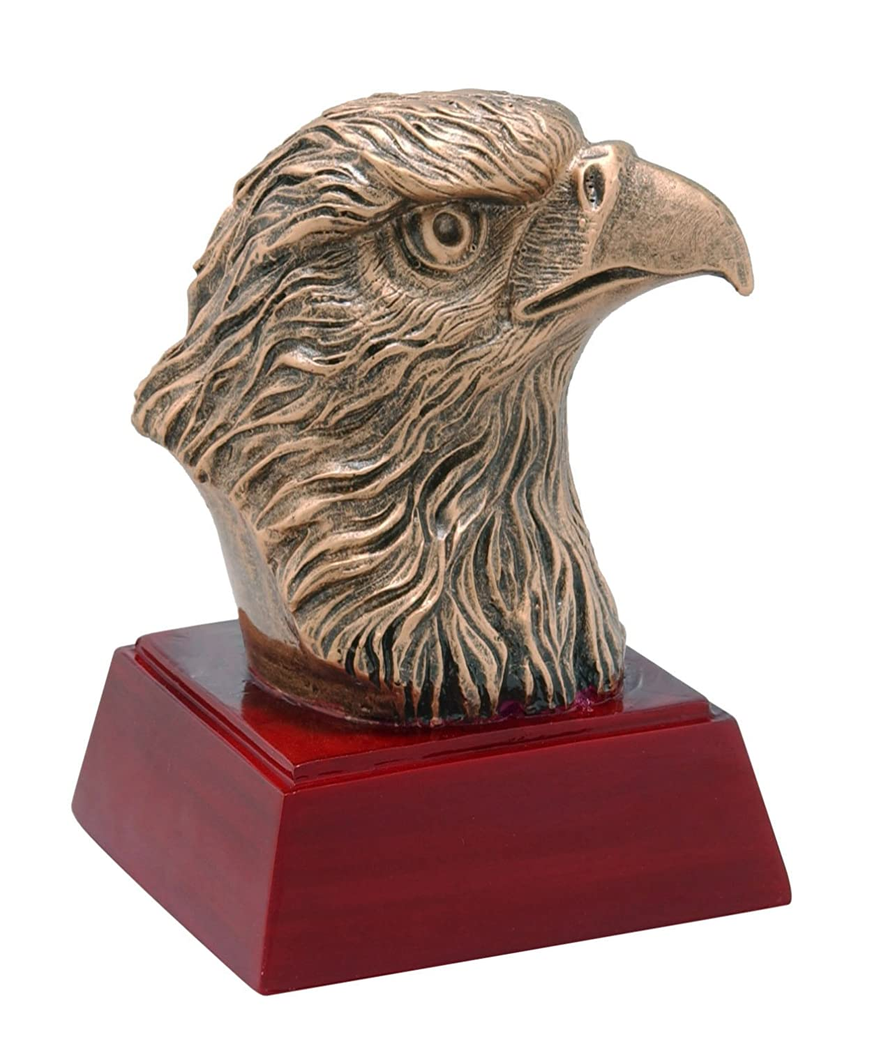 EagleマスコットSculptured Trophy – カスタマイズNow – Personalized Engraved Plate Included & Attached to award – Perfect認識賞トロフィー B074F3QRG7