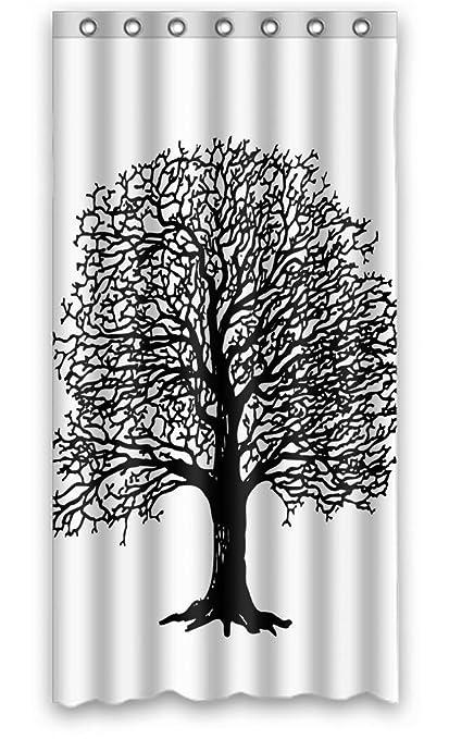 Diseño Moderno Botánica árbol De Amor Dibujo Diseño Dulce Cortinas