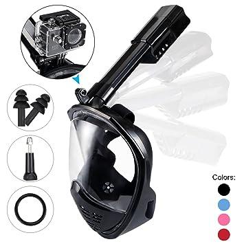 Máscara de buceo,Máscara Snorkel Máscara para buceo 180° (Negro S/M