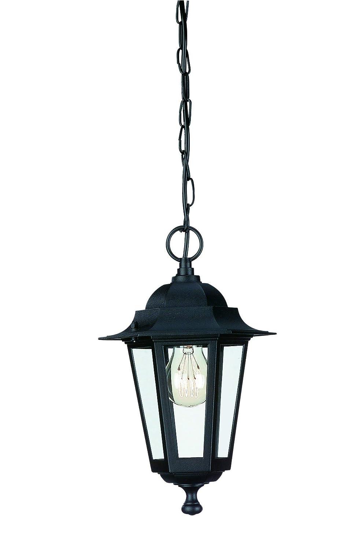 Massive Peking - Lámpara colgante flexible, iluminación exterior, corriente alterna, E27, 60 W, IP44, aluminio y vidrio, color negro