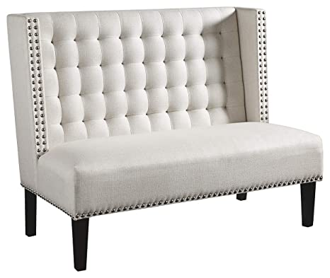 Prime Ashley Furniture Signature Design Beauland Accent Bench Settee Contemporary Chic White Pabps2019 Chair Design Images Pabps2019Com