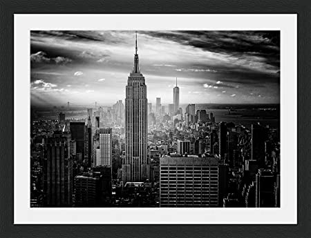 Behind The Glass New York City Black & White - Framed & Mounted ...