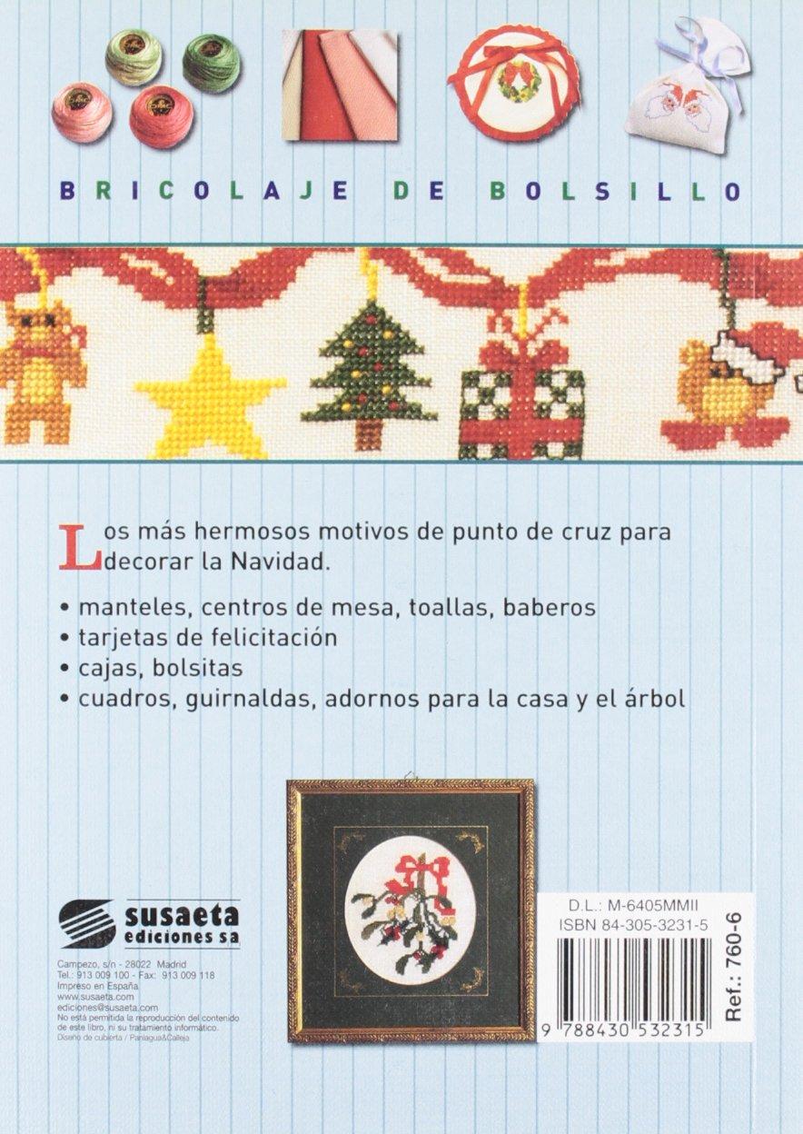 Punto de cruz para Navidad (Bricolaje De Bolsillo): Amazon.es: Equipo Susaeta: Libros
