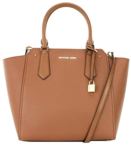 0e3a5412e65f Michael Kors Hayes Leather Shoulder Bag Large Handbag (Luggage Brown) RRP  £345
