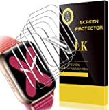 [6 Pack] LK for Apple Watch Series 6 / SE/Series 5 / Series 4 Screen Protector 44mm, [Model No. TW5193], HD Clear Bubble…