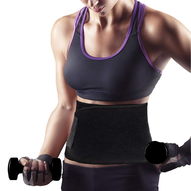 AMIS Direct Waist Trimmer Belt for Men /& Women Weight Loss Wrap Waist Trainer Slimming Belt Low Back and Lumbar Support Slimmer Kit Best Abdominal Trainer