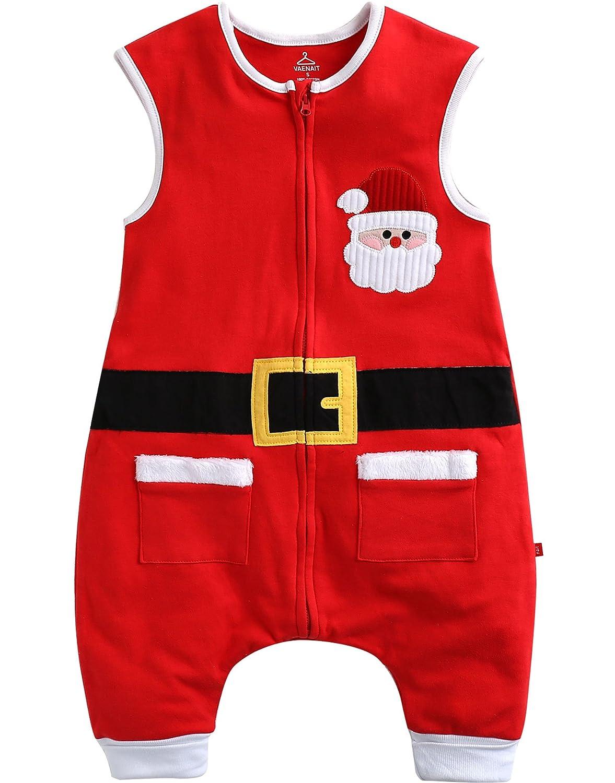 Vaenait Baby Kids Boys Cotton X-mas Wearable Blanket Sleeper Hi-Santa VSS_064