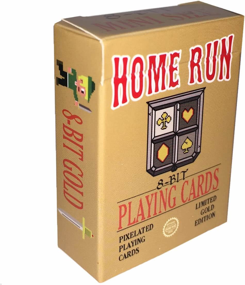 Home Run Games 8-Bit Mini Gold Playing Cards