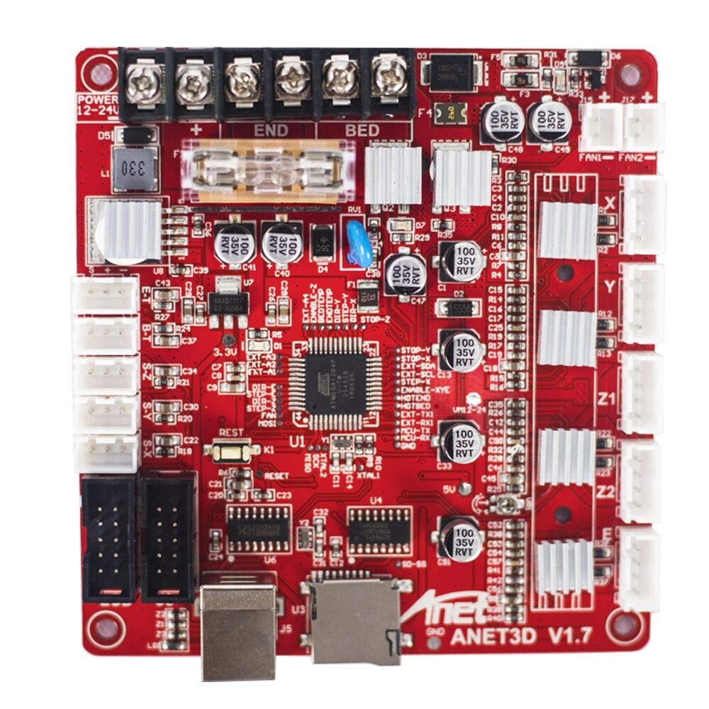 Kehuashina A8 V1.7 Control Board Mainboard - Upgrade Satety and Precise - Self Assembly 12V Mother Board - Replacement for DIY Auto Levelling A8 3D Desktop Printer - 3D Printer Accessories
