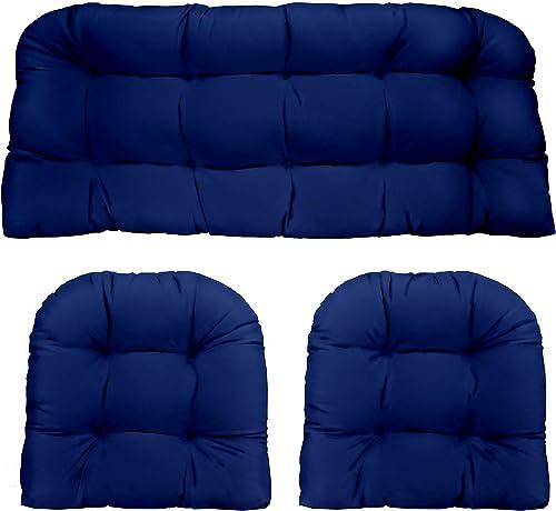 Resort Spa Home Decor Royal/Cobalt Blue Solid Fabric Cushions