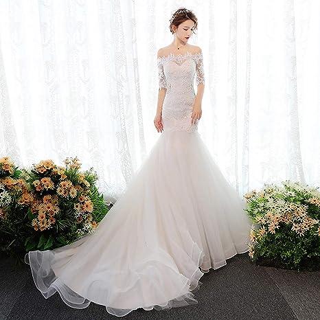 Amazoncom Wzcxyx Ivory White Wedding Dressmopping French