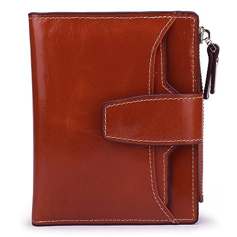 AINIMOER Cartera para pasaporte marrón Sorrel talla única