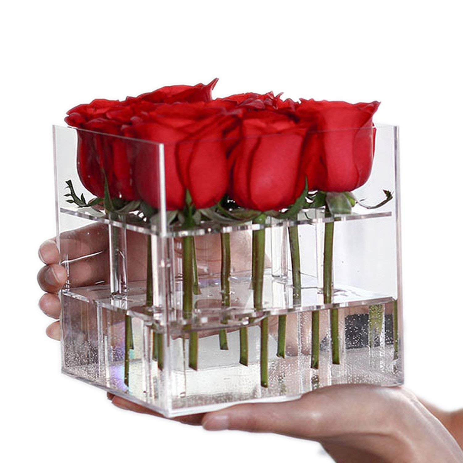 Buy Home Furnishing Rose Flower Box Makeup Artificial Flower Bouquet Flower Gift Box Valentine S Day Gift Case 16 Holes Online At Low Prices In India Amazon In