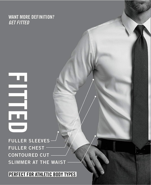 8ee5b267 Tommy Hilfiger Men's Athletic Fit Performance Stretch TH Flex Collar  Fineline Stripe Dress Shirt (Garnet, 15.5