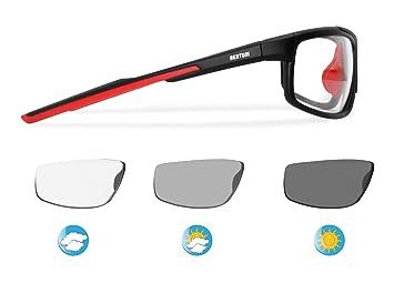 Bertoni F180C - Gafas Deportivas Fotocromáticas Envolventes a Prueba de Viento, para Ciclismo, Golf, Carreras, Esqui: Amazon.es: Deportes y aire libre
