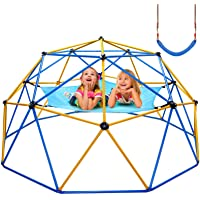 Jugader Upgraded 10FT Climbing Dome with Canopy and Swing, Dome Climber for Kids 3 - 10, Weight Capability 800LBS, 3…