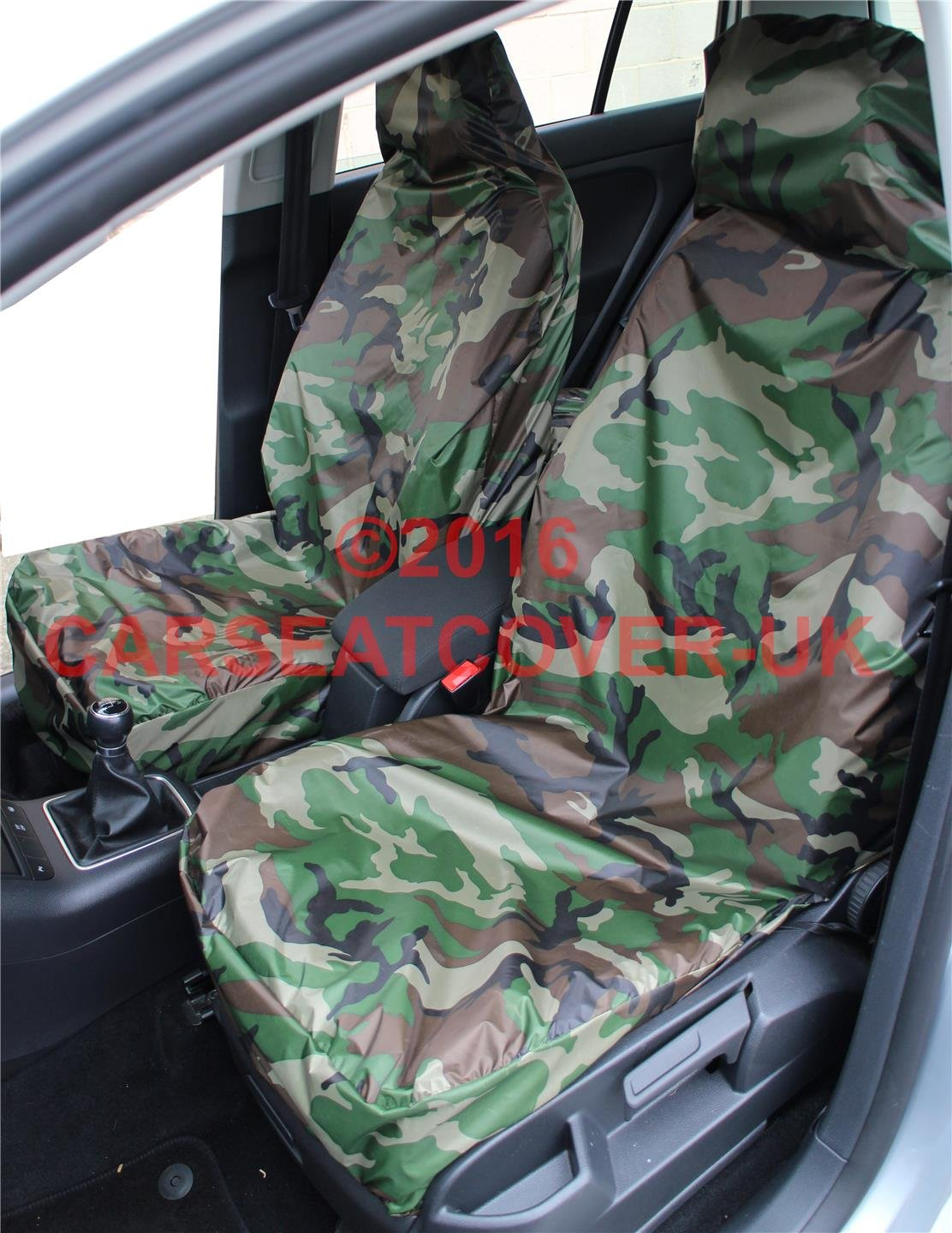 LAND ROVER GREEN Camouflage Waterproof FRONT SEAT COVERS Defender Discovery 2 3 4 Sport