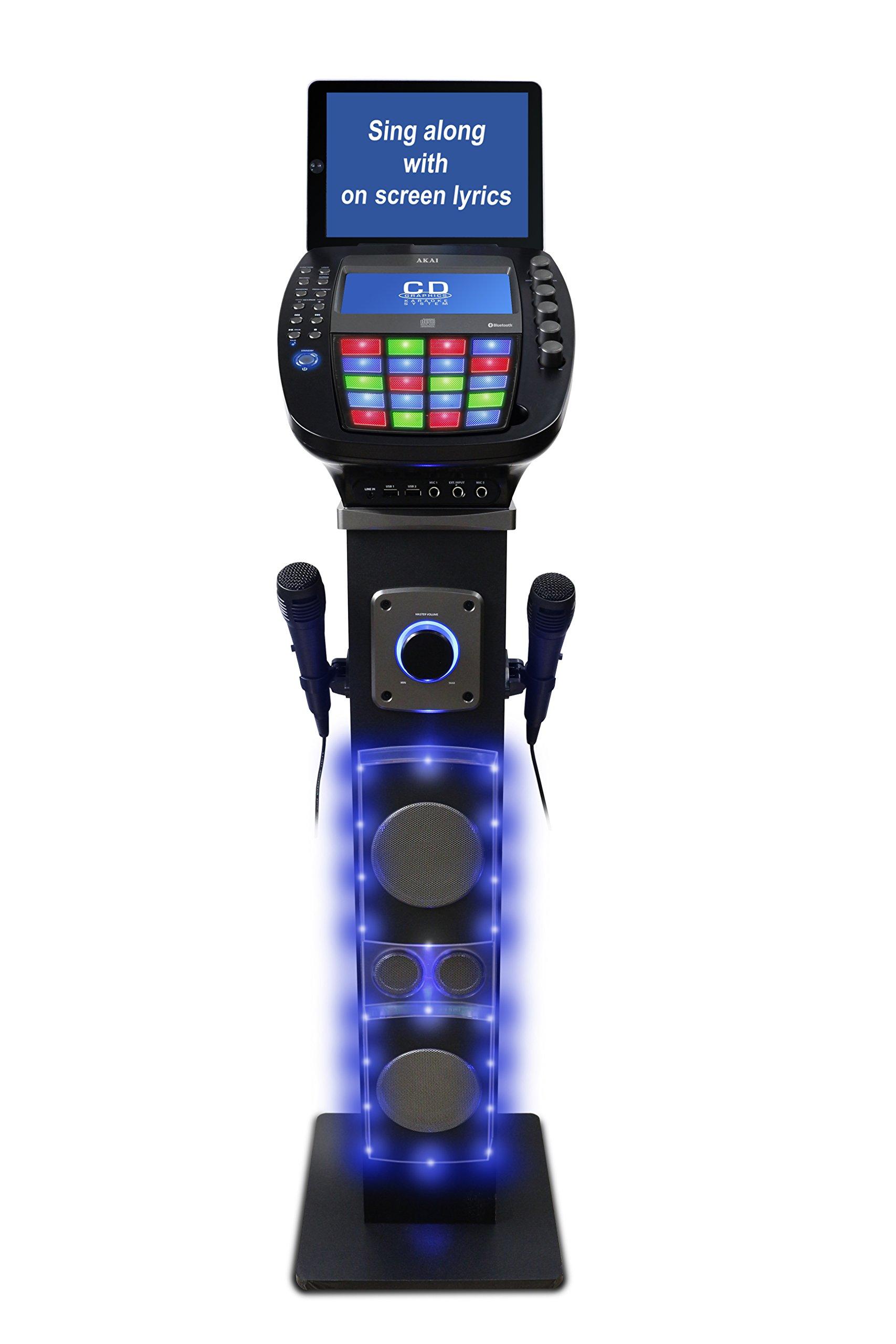 Akai KS878-BT Bluetooth Pedestal CD&G Karaoke System, Black by Akai (Image #2)