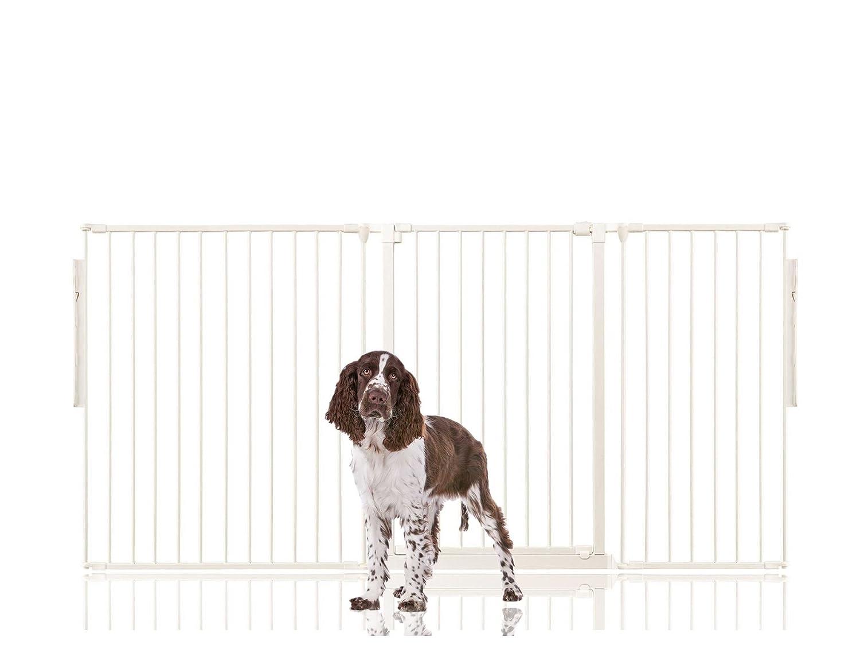 White Upto 190cm (105cm Tall) White Upto 190cm (105cm Tall) Bettacare Premium Multi Panel Flexible Pet Barrier (Upto 190cm (105cm Tall), White)