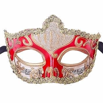 Mascara Facial Careta Protector de Cara dominó Frente Falso Máscara Halloween Venecia Maquillaje Danza cos Half